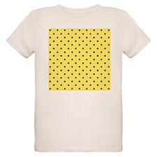 Yellow and black polka dot. T-Shirt