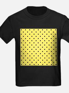 Yellow and black polka dot. T