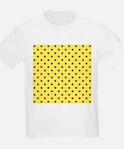 Yellow and black polka dot. T-Shirt