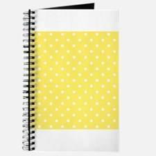 Yellow and White Dot Design. Journal
