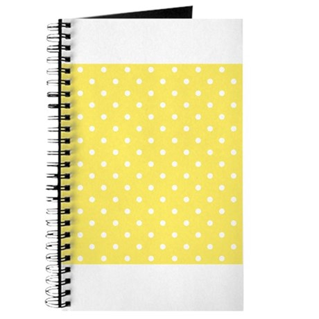 Yellow And White Dot Design. Journal