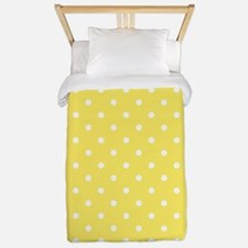 Yellow and White Dot Design. Twin Duvet