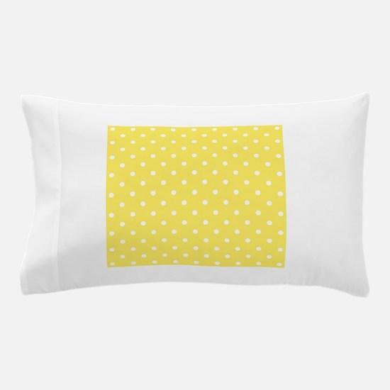 Yellow and White Dot Design. Pillow Case