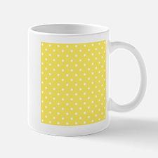 Yellow and White Dot Design. Small Small Mug
