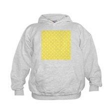 Yellow and White Dot Design. Hoodie