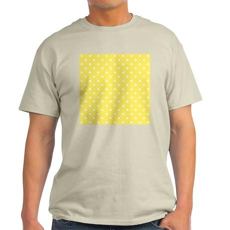Yellow and White Dot Design. Light T-Shirt