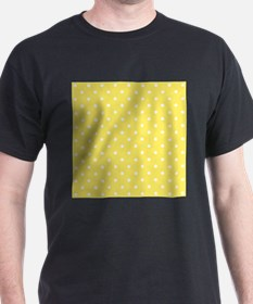 Yellow and White Dot Design. T-Shirt