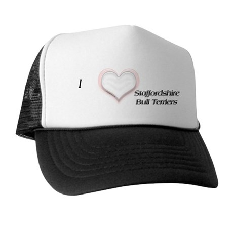 I heart Staffordshire Bull Terriers Trucker Hat