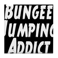 Bungee Jumping Addict Tile Coaster