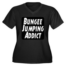 Bungee Jumping Addict Women's Plus Size V-Neck Dar