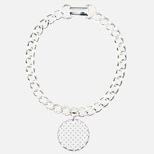 Light Gray Dot Pattern. Bracelet