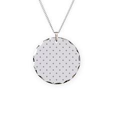 Light Gray Dot Pattern. Necklace