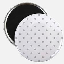 Light Gray Dot Pattern. Magnet