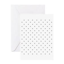 Light Gray Dot Pattern. Greeting Card