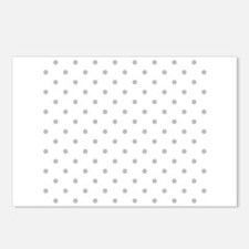 Light Gray Dot Pattern. Postcards (Package of 8)