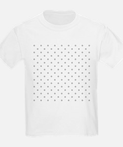 Light Gray Dot Pattern. T-Shirt