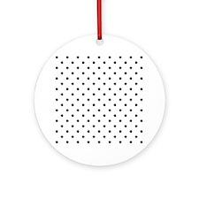 Black Polka Dot Pattern. Ornament (Round)