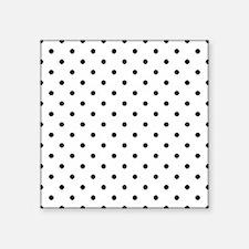 "Black Polka Dot Pattern. Square Sticker 3"" x 3"""