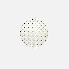 Black Polka Dot Pattern. Mini Button