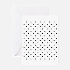 Black Polka Dot Pattern. Greeting Card