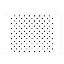 Black Polka Dot Pattern. Postcards (Package of 8)