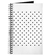 Black Polka Dot Pattern. Journal