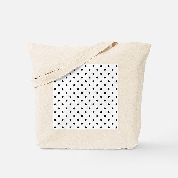 Black Polka Dot Pattern. Tote Bag