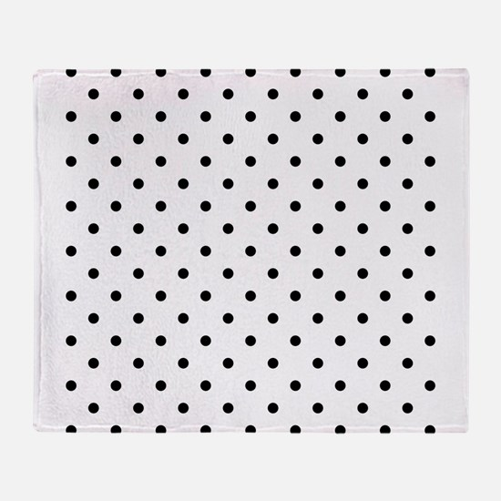 Black Polka Dot Pattern. Throw Blanket