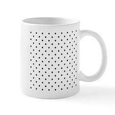 Black Polka Dot Pattern. Mug