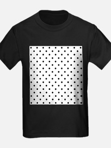 Black Polka Dot Pattern. T
