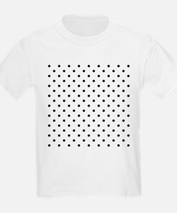 Black Polka Dot Pattern. T-Shirt