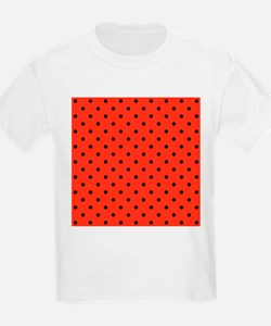 Red and black polka dot. T-Shirt