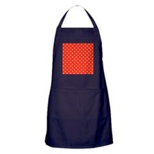 Red and White Dot Pattern. Apron (dark)