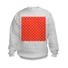 Red and White Dot Pattern. Jumper Sweater