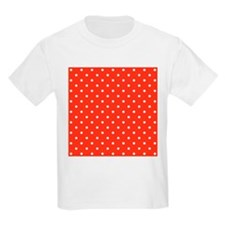 Red and White Dot Pattern. T-Shirt