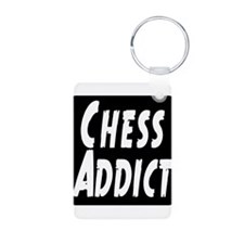 Chess Addict Aluminum Photo Keychain
