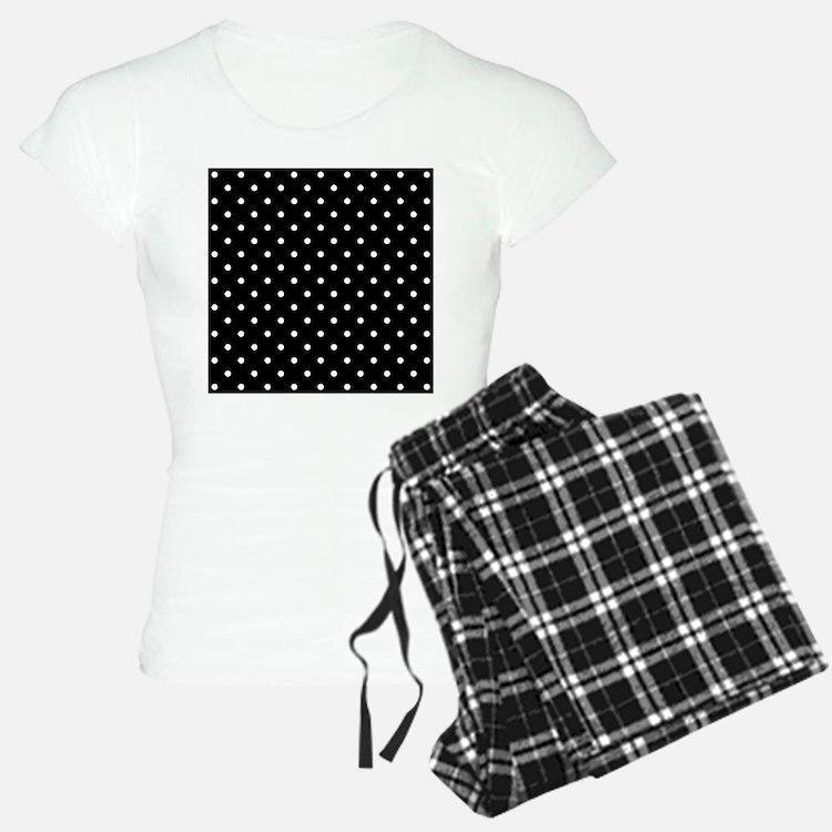 Black and White Polka Dot. Pajamas