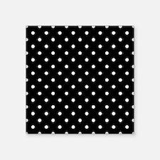"""Black and White Polka Dot. Square Sticker 3"""" x 3"""""""
