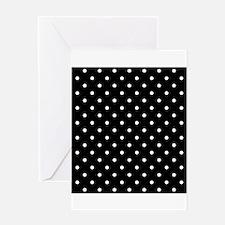 Black and White Polka Dot. Greeting Card