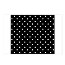 Black and White Polka Dot. Postcards (Package of 8