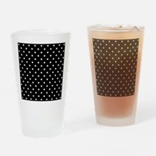 Black and White Polka Dot. Drinking Glass