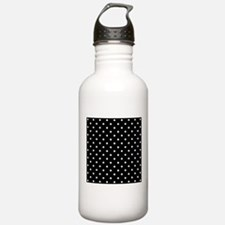 Black and White Polka Dot. Water Bottle