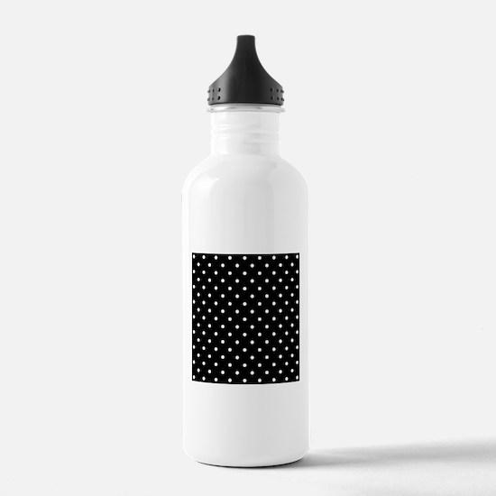 Black and White Polka Dot. Water Bottle