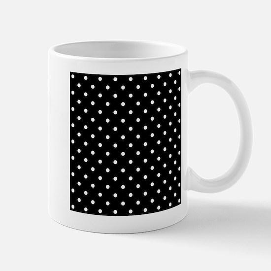 Black and White Polka Dot. Mug
