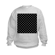 Black and White Polka Dot. Jumper Sweater