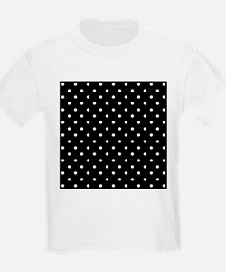Black and White Polka Dot. T-Shirt