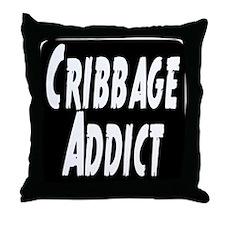 Cribbage Addict Throw Pillow