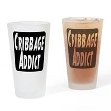 Cribbage Addict Drinking Glass