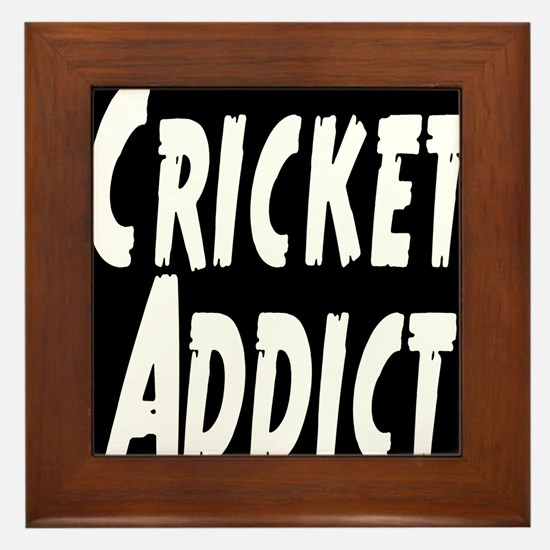 Cricket Addict Framed Tile