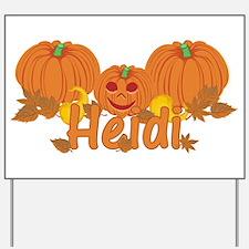 Halloween Pumpkin Heidi Yard Sign